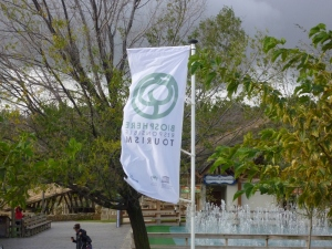 Photograph from Senda Viva, a flag showing environmental commintment